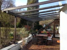 Terrassendach aluminium glas