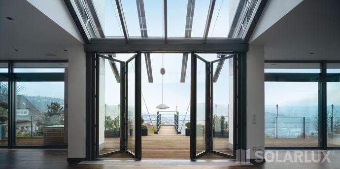 pin die glas faltwand sl 35 ist eine unged mmte aluminium. Black Bedroom Furniture Sets. Home Design Ideas