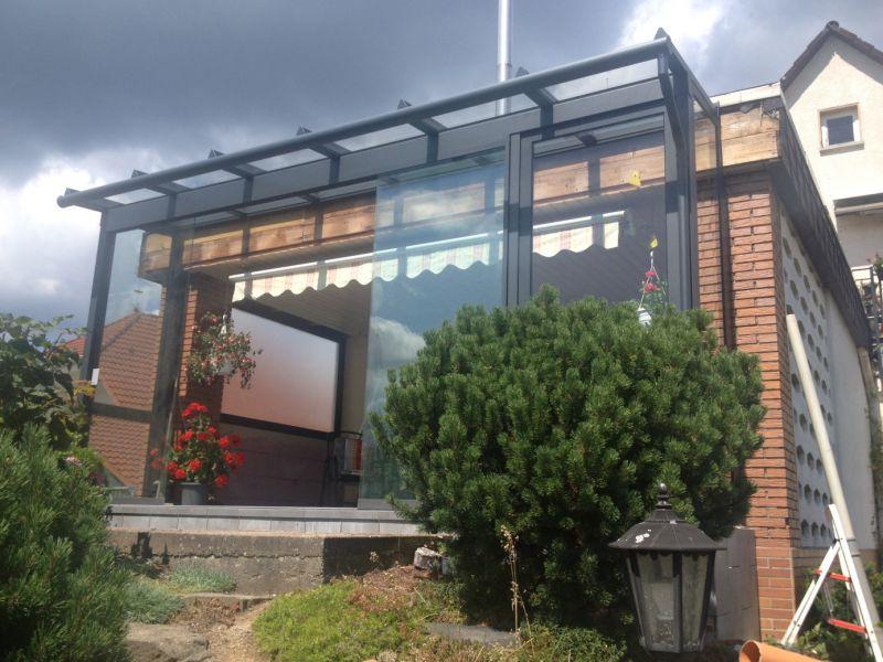 terrassendach glas aluminium, sommergarten / aluminium - glas - terrassendach, Design ideen