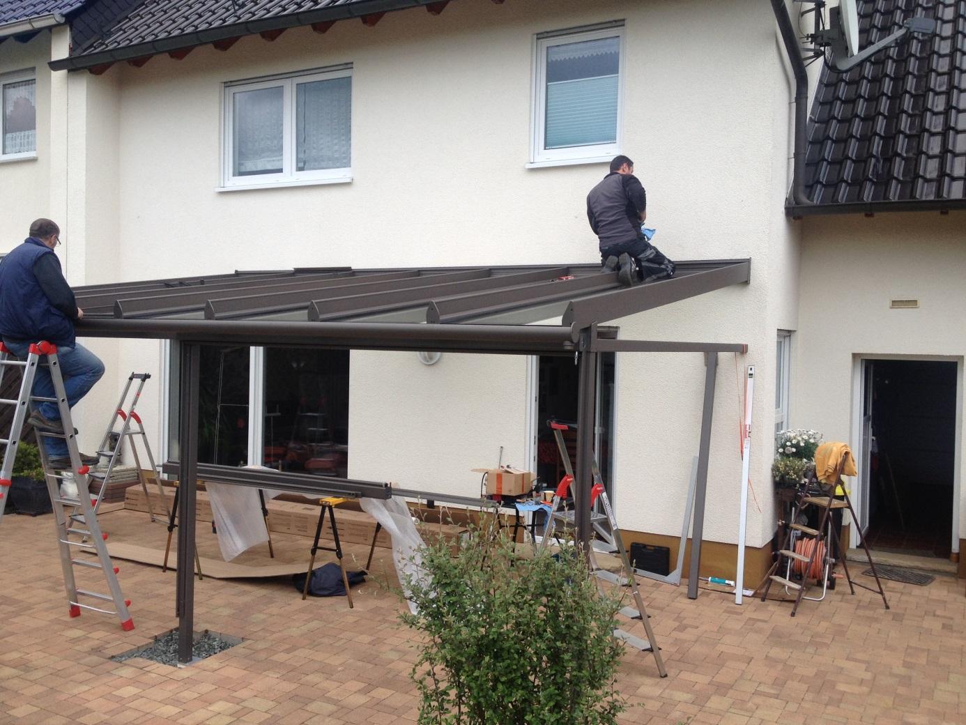 Terrassenüberdachung in Dillenburg – Manderbach: